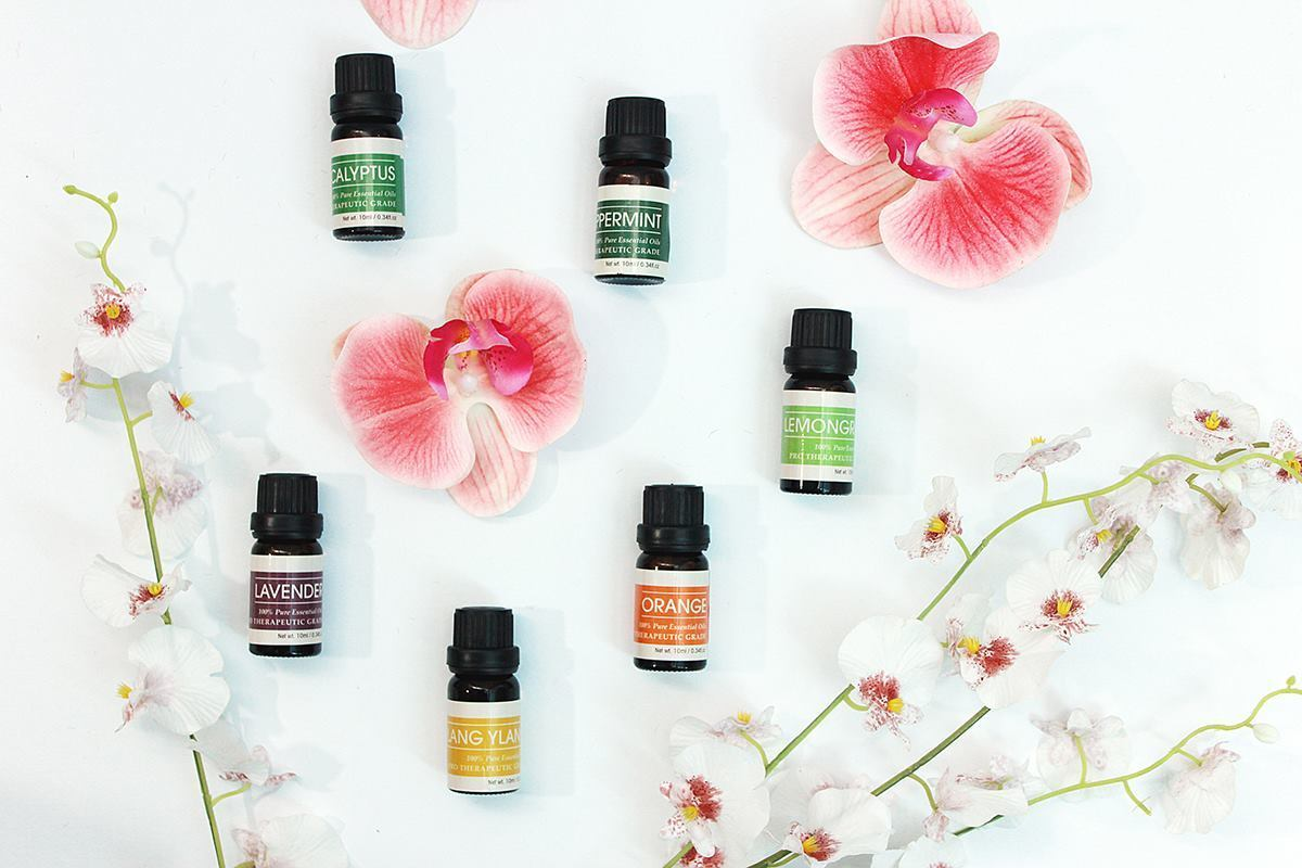 an image showing six bottles of Aromatherapy Essential Oils Set